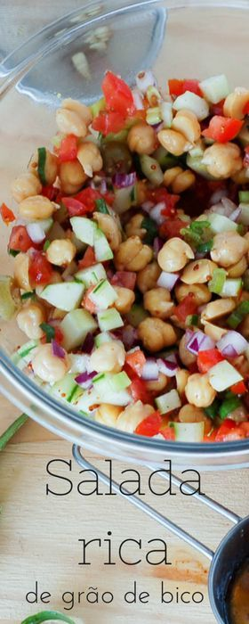Receita de salada de grão de bico e dicas de congelamento