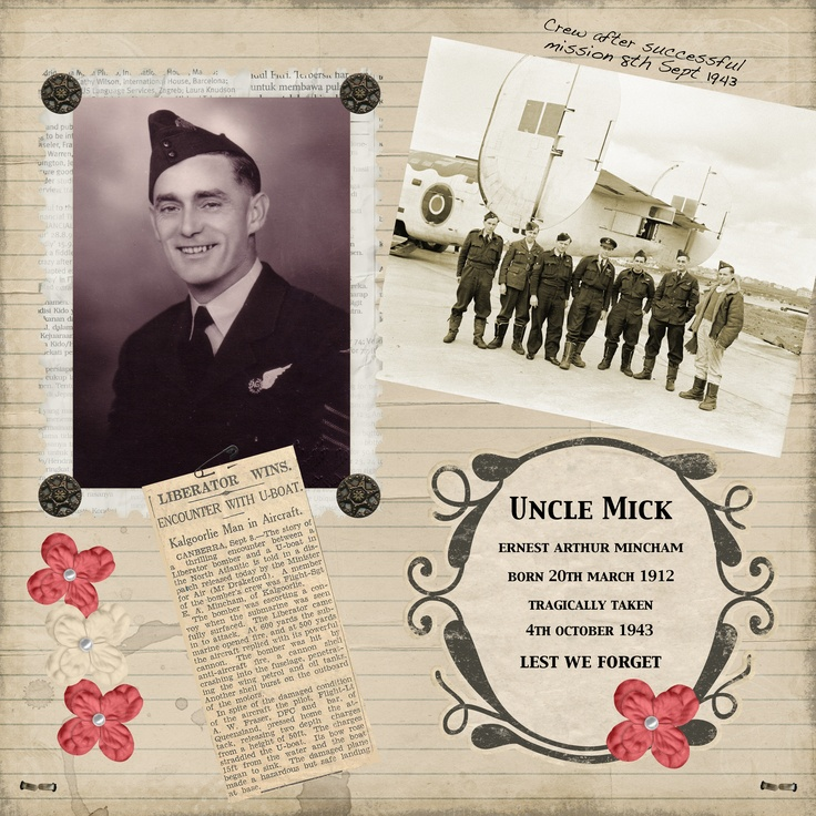 On this Anzac Day, my tribute to our great-uncle who gave his life in WW2.