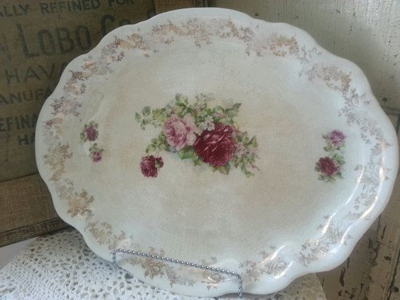 Beautiful Romantic Homer Laughlin Hudson Rose~Coupon code greatsale for 25% off $50 purchase!