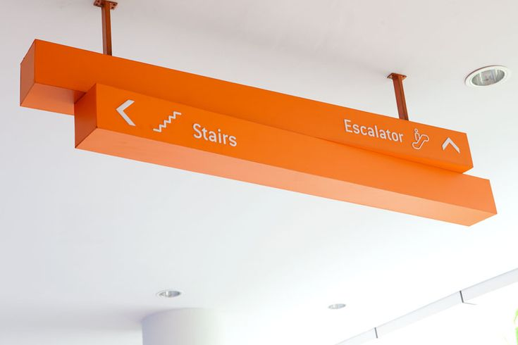 Ceiling directional sign at Tribeca Central Park Mall, Jakarta, Indonesia by Bentuk