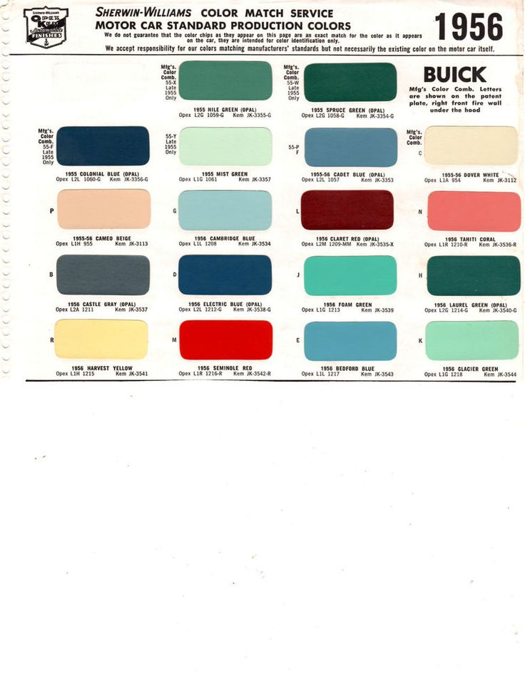 Buick Special Engine Paint Code
