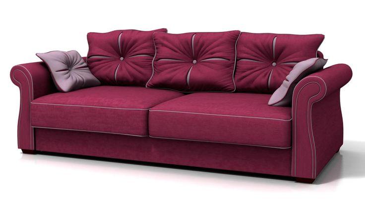 диван-еврокнижка, бордовый диван, диван до 40 тысяч