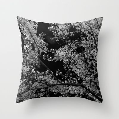 Cherry tree  Throw Pillow by Ina Ionescu - $20.00