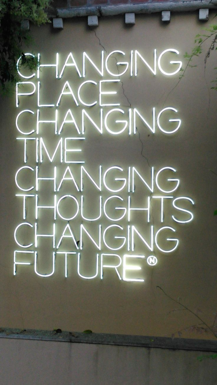 Changing Future - Maurizio Nannucci @ Peggy Guggenheim Collection