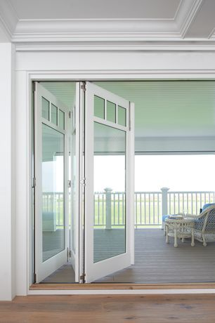 Contemporary Porch with Marvin Bi-Fold Door, Wrap around porch