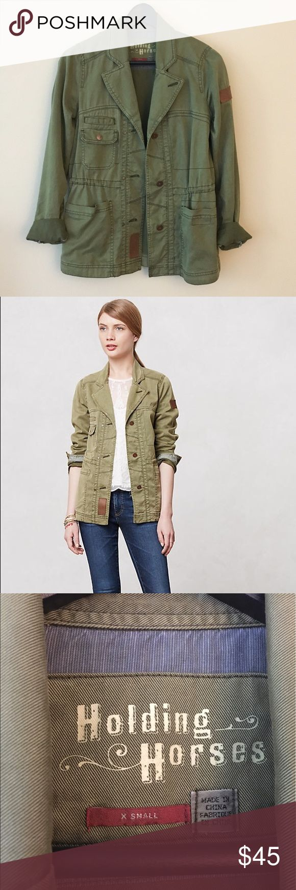 Holding Horses Army Jacket from Anthropologie Holding Horses Elsie Army Jacket from Anthropologie. I love this jacket, but I never wear it so I need to let it go! Perfect versatile piece, classic army style jacket. No stains or wear, great condition! Anthropologie Jackets & Coats