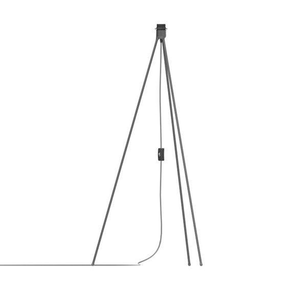Accesorio tripode de Vita realizado en metal disponible en dos colores: blanco o negro, con cable de conexión en textil con interruptor encendido/apagado.