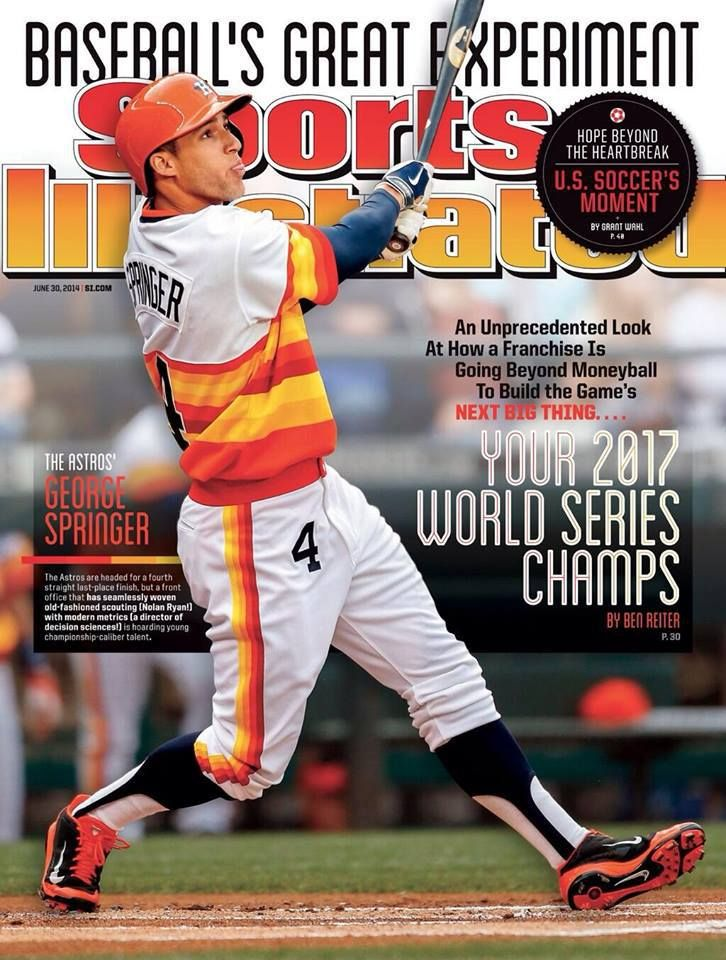 Houston Astros' outfielder George Springer is one of the many future (and current) bright spots of the organization. Description from fullscalesports.com. I searched for this on bing.com/images