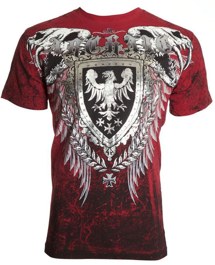 Archaic AFFLICTION Mens T-Shirt RUSE Skull Vertebrae Tattoo Biker UFC L-4XL $40 #Affliction #GraphicTee