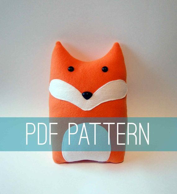 DIY Fox Pattern Woodland Pillow Plush Fleece by FluffedAnimals