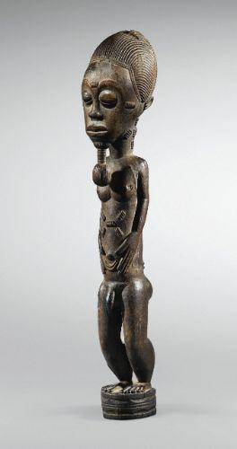 Statue, atelier des Maîtres de Sakassou, Baulé, Côte d'Ivoire   lot   Sotheby's