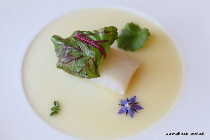 Cod in white - Merluzzo in bianco by Chef Enrico Crippa, Ristorante Piazza Duomo - 3* Michelin #ViaggiatoreGourmet #AltissimoCeto