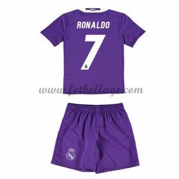 Real Madrid Fotbollströjor Barn 2016-17 Ronaldo 7 Borta Matchtröja