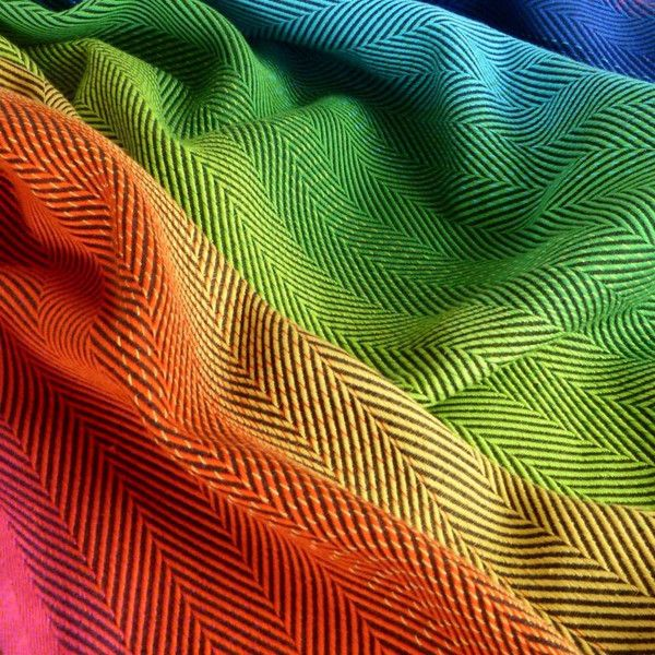 Didymos Rainbow Lisca - Multi-colour warp & Anthracite weft -www.littlezenone.com/products/didymos