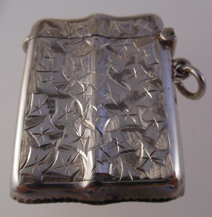 Edwardian Smith & Bartlam Sterling Silver Heart Vesta Case/Match Safe 1908 (U23)   eBay