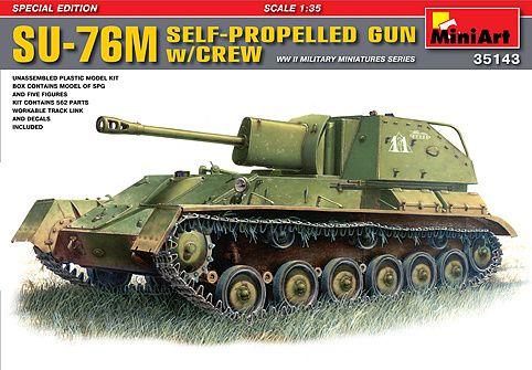MiniArt SU-76M self propelled gun met bemanning € 39,95 http://www.modelbouwwildervank.nl/a-41771105/militaire-voertuigen-wwii-1-35/su-76m-self-propelled-gun-met-bemanning/
