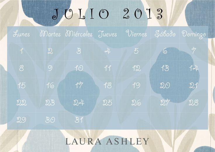 Calendario Julio 2013