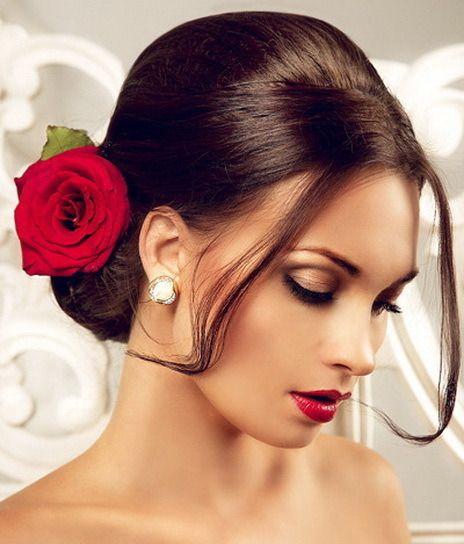 Lovely Bridal Look Make Up Hairstyles Web Www Elstile Ru: 19 Best Spanish Costume -hair Images On Pinterest