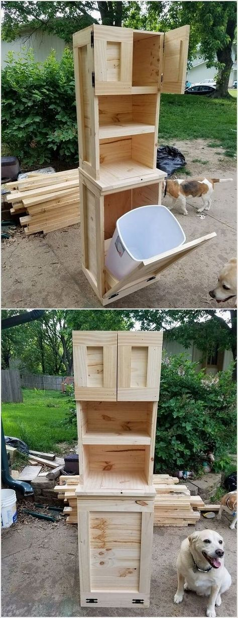 make a trash can cabinet – woodworking ideas