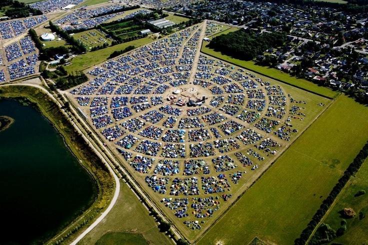 Roskilde Festival, Denmark - Camp Site design.