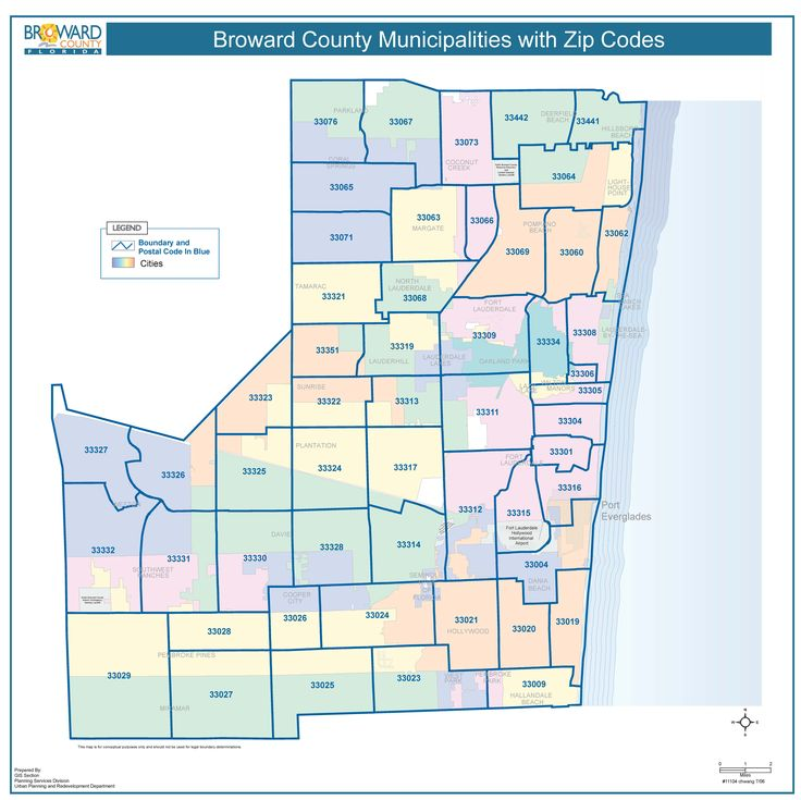 broward county with zip codes | miami real estate maps and