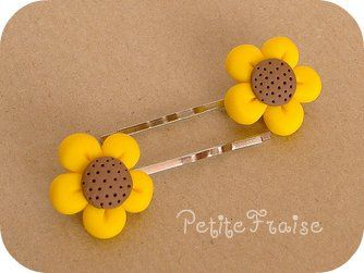 Sunflower pins for haileys hair