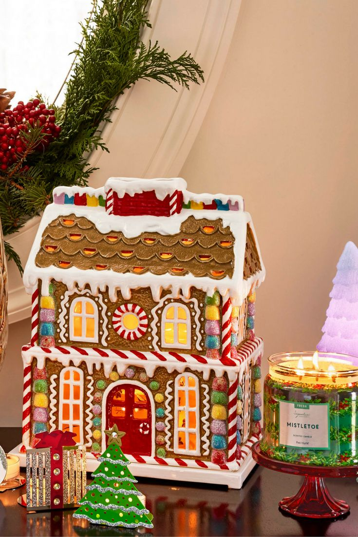 Sunflower Kitchen Accessories 30 Inch Square Table Iced Gingerbread Jar Holder | Holiday 2016 At Partylite ...