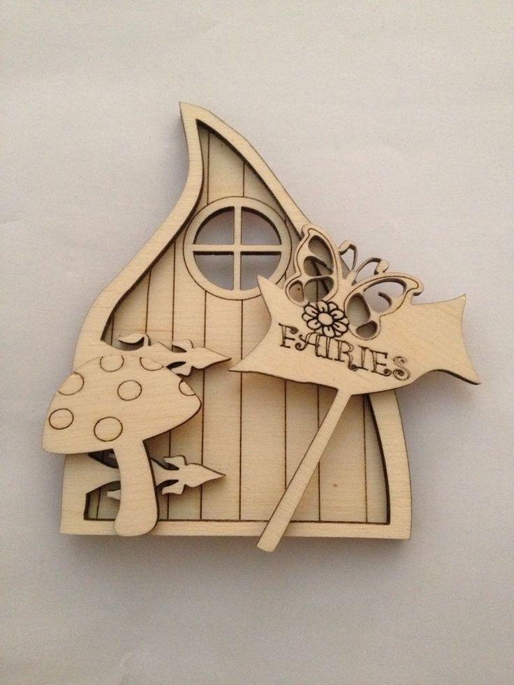 Wooden Laser cut Gothic Fairy door set Pixie/Elf Craft Blanks | Crafts, Hand-Crafted Items | eBay!
