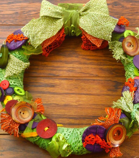 Fall Button Wreath