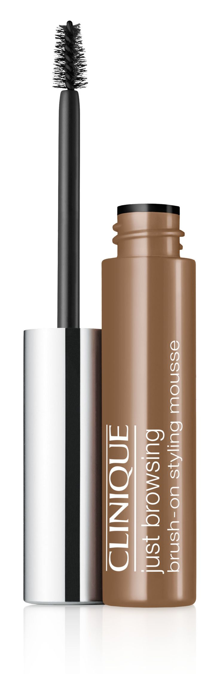 Fall Makeup Trend: Bold Brows. Get the look with Clinique Just Browsing Brush-On Styling Mousse in Light Brown. 24-hour long-wearing brow mousse tints, tames, fills-in even the sparsest brows.