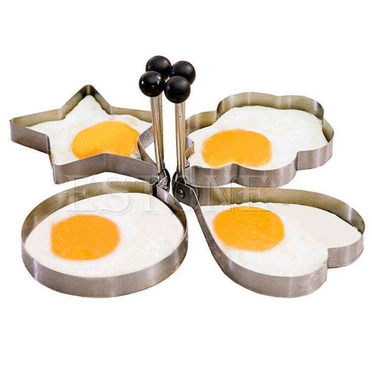 1 шт. из нержавеющей стали кухня кольцо кулинария формирователь блин жареные яйца плесень плесень 4 модели бесплатная доставкакупить в магазине come here !!!наAliExpress