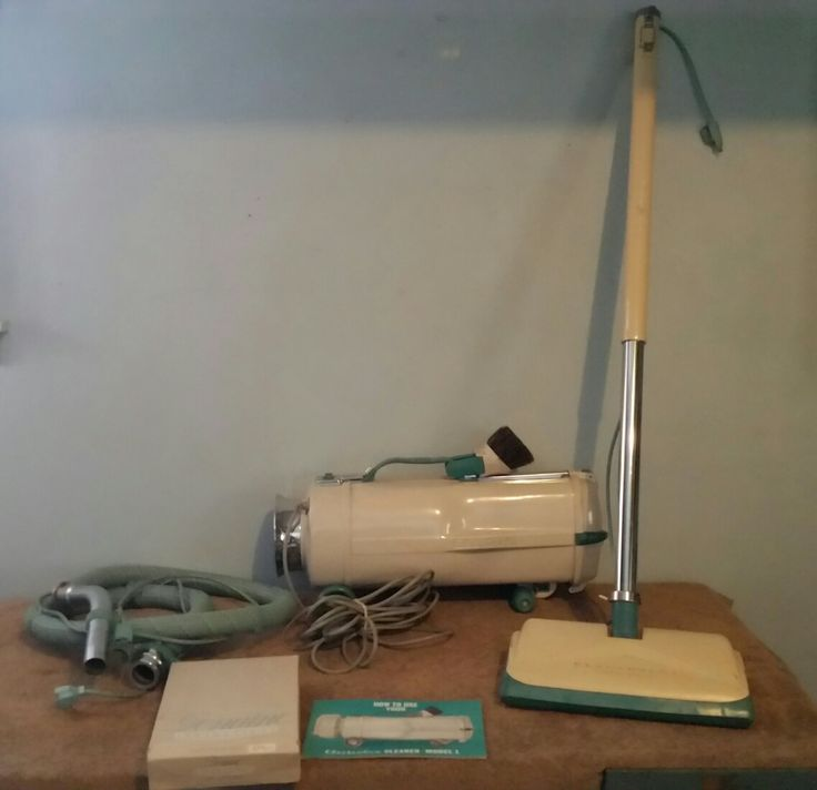 electrolux canister vacuum vintage model teal and white - Electrolux Canister Vacuum