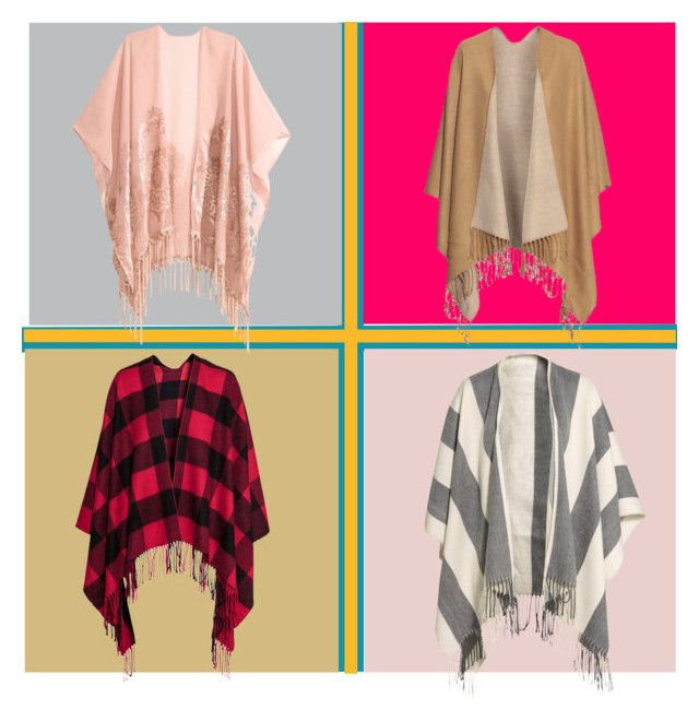 """""""Poncho Ready"""" by girlie-contrast on Polyvore featuring H&M"""