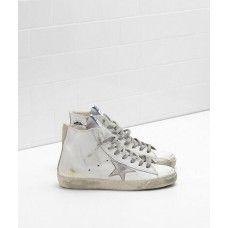 2017 Golden Goose Francy Schuhe Damen GGDB Sneakers Silber Weiß Soldes