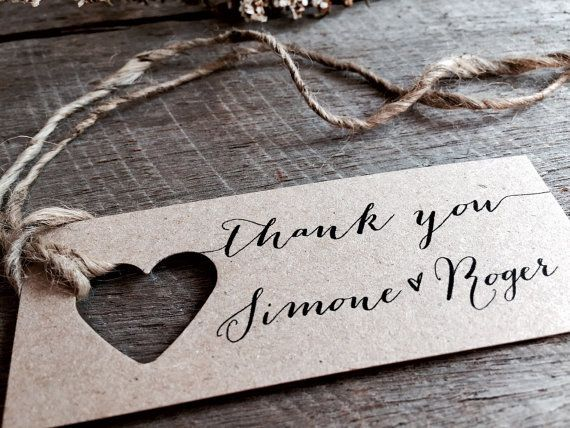Wedding Thank You Tags Personalised Thank You by LaPommeEtLaPipe