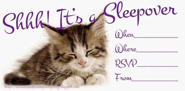 HELLO KITTY COLORING: FREE PRINTABLE SLEEPOVER / SLUMBER PARTY INVITATIONS