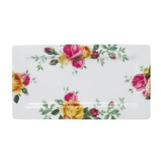 Royal Albert Royal Albert Country Rose Serving Tray, 14-Inch by 7-1/2-Inch