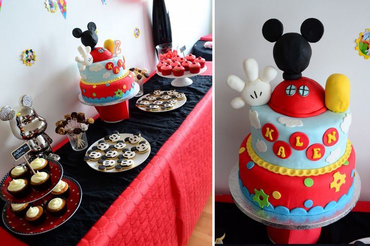 table à desserts Mickey