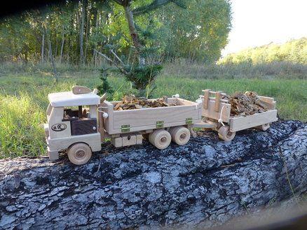Pritschen LKW +Anhänger / Flatbed truck + trailer
