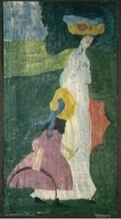 Painter Wassily Kandinsky. Summer. 1904