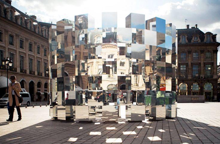 arnaud lapierre + AUDI: ring installationRings Mirrors, Paris, Rings Installations, Arnaud Lapierre, Art Installations, Mirrors Installations, Places, Design, Mirrors Mirrors
