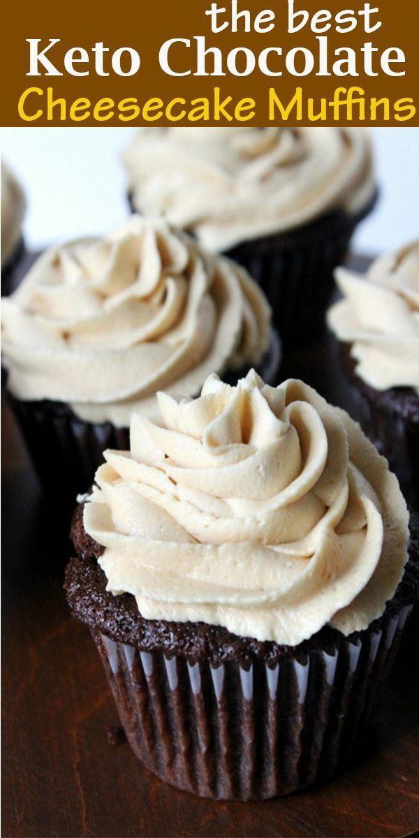 de beste Keto Chocolate Cheesecake Muffins #thebest #Keto #Chocolate #Cheesecake…