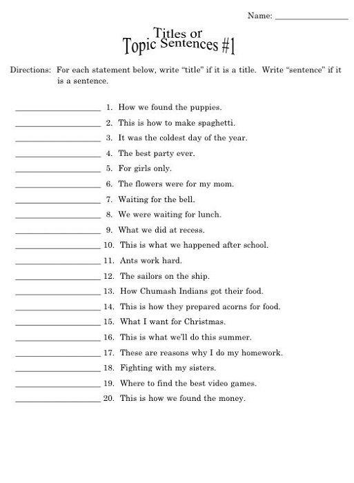 Year 4 English Worksheets Free Printable Sentences | Learning ...