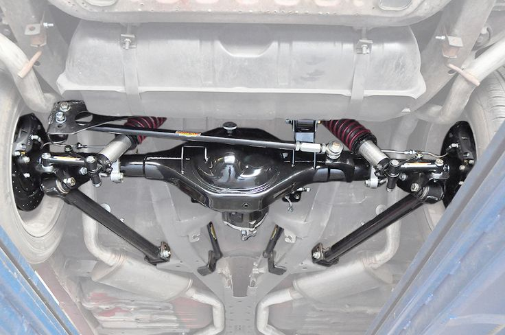 A Look Of A Rear Suspension Setup On A 1963 Impala