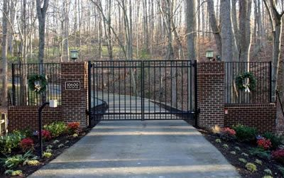 The gate to the beginning of our driveway.