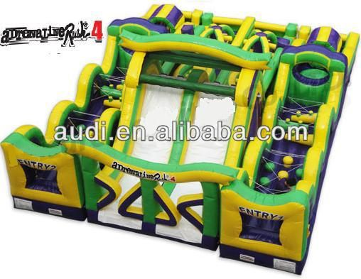 Adrenaline Rush Inflatable Obstacle Course for kids and adult $1000~$3000