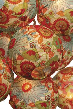 Dahlia Chinese Lantern String Lights