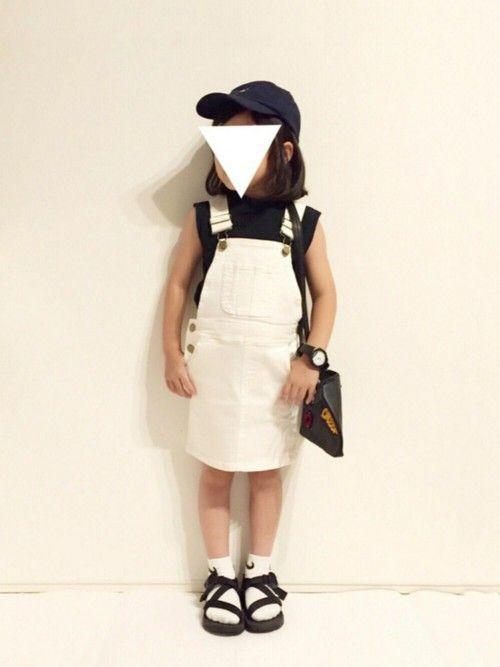 yuuunaさんの「デニムサロペットスカート(petit main)」を使ったコーディネート