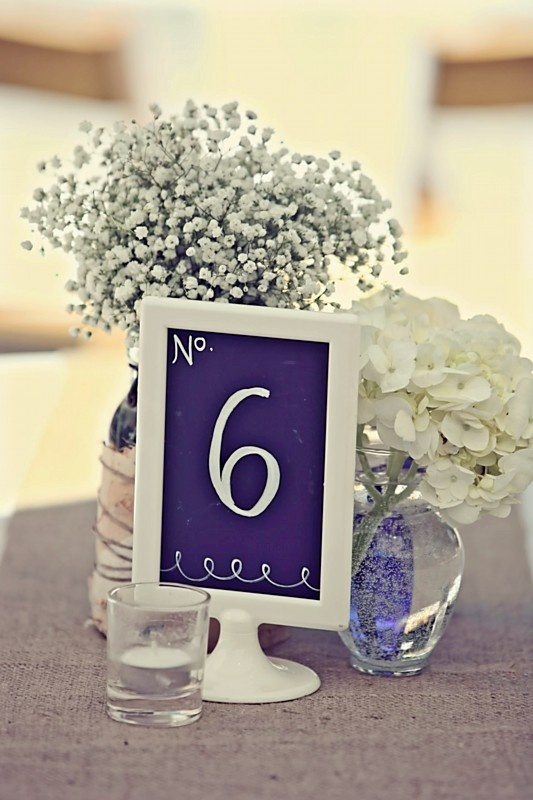 centerpiece inspiration- possibly with photo instead of number