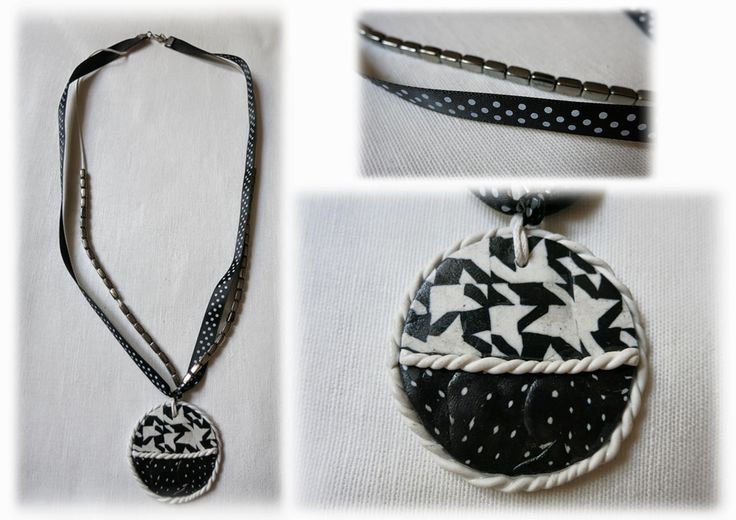 Hand made polymer clay necklace https://www.facebook.com/Anna-Donna-%C3%A9kszer-231340573715505/